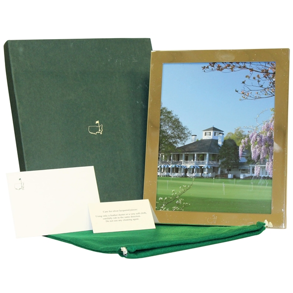 Augusta National Golf Club 8x10 Photo Frame in Original Box with Sleeve & Cards