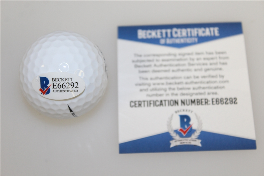 Charles Coody Signed Masters Logo Golf Ball with '71' Notation BECKETT #E66292