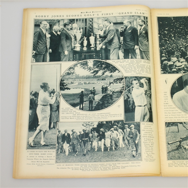 Bobby Jones 1930 Grand Slam Mid-Week Pictorial Cover - October 11th