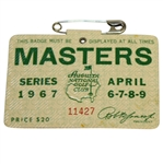 1967 Masters Tournament Series Badge #11427 - Gay Brewer Winner