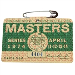 1974 Masters Tournament Series Badge #4404 - Gary Player Winner