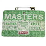 1978 Masters Tournament Series Badge #22350 - Gary Player Winner