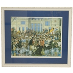 The Reunion of Golf Ltd Ed Print Signed by Artist Paul MacWilliams #344/950 Framed