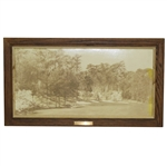 Azalea 13th Hole at Augusta National Golf Club Sepia Tone Picture - Framed