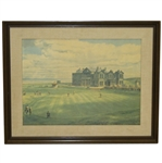 Royal & Ancient Golf Club Arthur Weaver Print - Framed