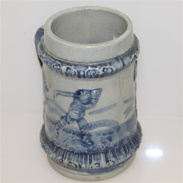 Circa 1915 Blue Golf Themed Beer Mug/Stein