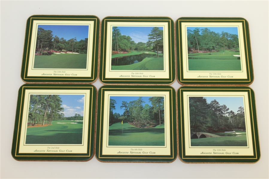 Augusta National Golf Club Masters Six Hole Coasters with Original Box