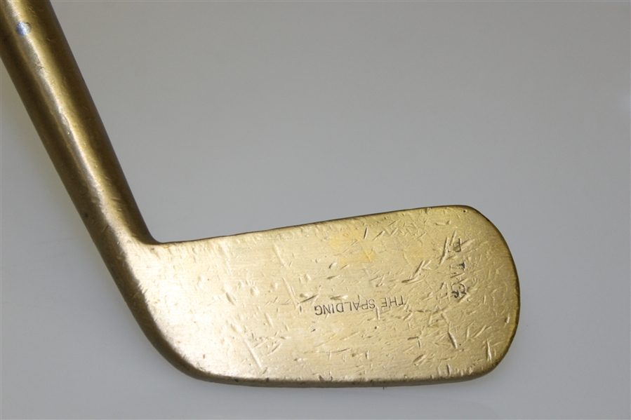 'The Spalding' Large Face Blade Brass Putter