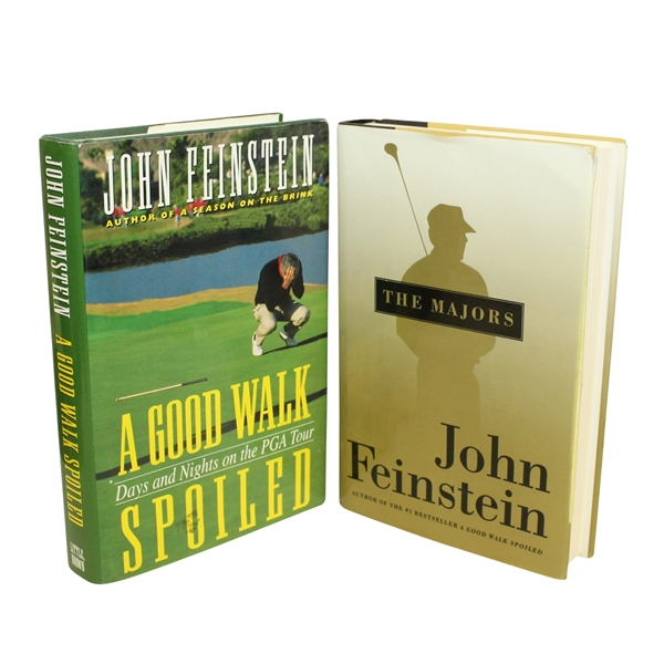 Two John Feinstein Books - 'The Majors' and 'A Good Walk Spoiled'