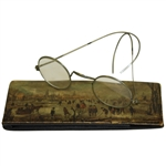 Vintage Golfing on Ice Italian Sunglass Case with Glasses