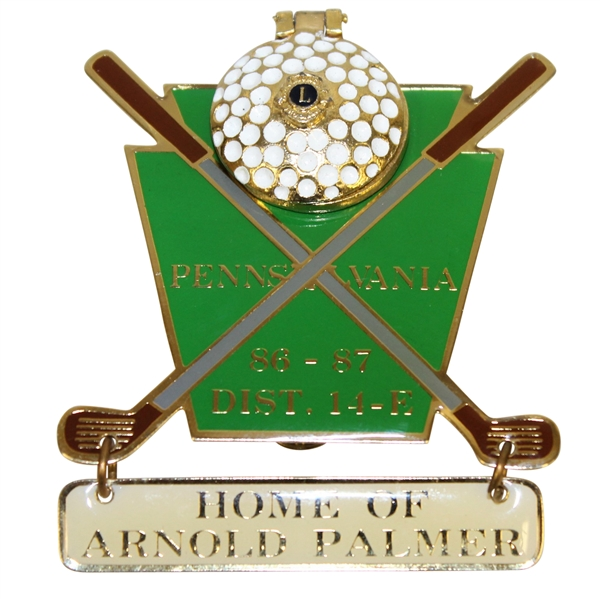 Arnold Palmer 'We're All Part of Arnie's Army' Member's Lion Club - Latrobe, PA Pin