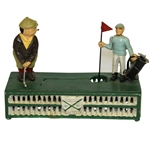 Classic Birdie Putt Bank with Caddy & Golfer