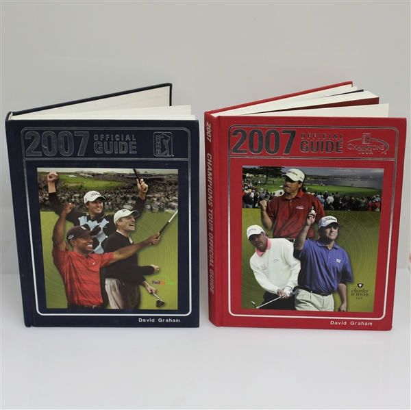 2007 PGA Tour & 2007 Champions Tour Official Guides - Issued to David Graham