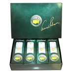 Arnold Palmer Signed 2010 Masters Logo Golf Ball Box with Sleeves JSA ALOA