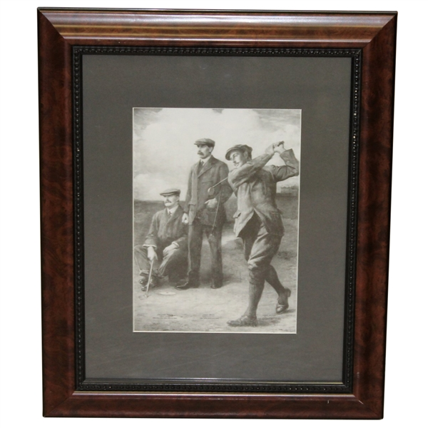 'Braid, Vardon, & Taylor Triumvirate' Clement Flower 1913 Presentation Photo - Framed