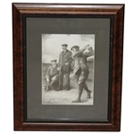 Braid, Vardon, & Taylor Triumvirate Clement Flower 1913 Presentation Photo - Framed