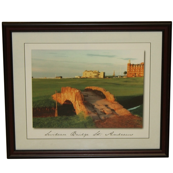 'The Swilcan Bridge St. Andrews' at The Old Course Display Photo - Framed