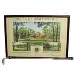 1999 PGA Championship Steve Lotus Poster with Tiger Woods Wedge Club - Framed