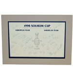 1998 Solheim Cup American & European Team Signed Sheet - Muirfield JSA ALOA