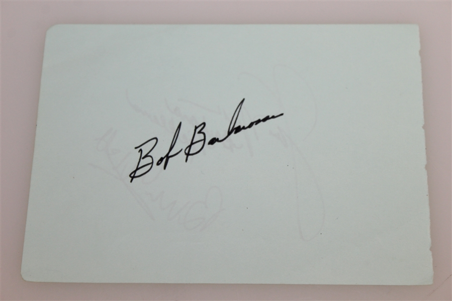 Jack Nicklaus & Barbara Nicklaus Classic Signed Album Page JSA ALOA
