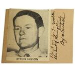 Vintage Byron Nelson Signature Mounted with Inscription JSA ALOA