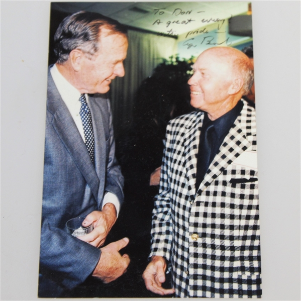Don Cherry's Personal Versace Couture Jacket/Blazer with Pres. Bush Signed Photo JSA ALOA