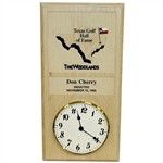 Don Cherrys Personal Texas Golf Hall of Fame Induction Mounted Clock - Nov. 13, 1995