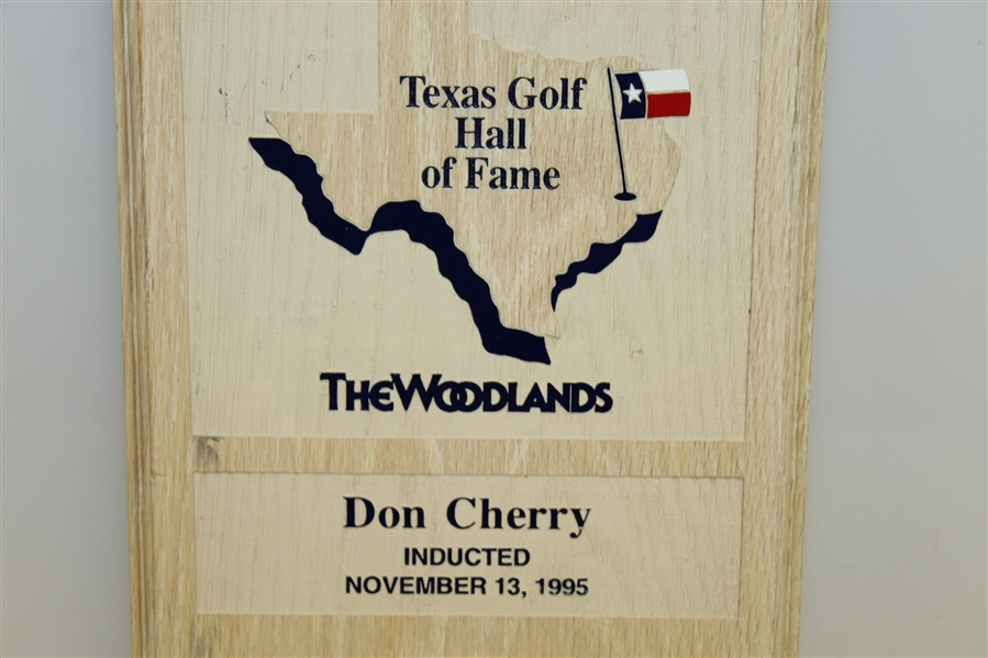 Don Cherry's Personal Texas Golf Hall of Fame Induction Mounted Clock - Nov. 13, 1995