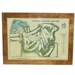 Don Cherrys Personal 1968 Augusta National GC Aerial View on Wood Perma Plaque by George Cobb