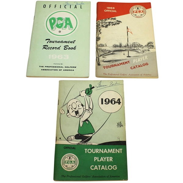 1963 & 1964 Official Player PGA Catalogs with 1963 PGA Record Book
