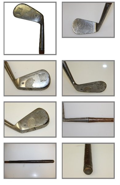 Four Golf Clubs - Munarch Putter, Spalding Cresent Iron, P-61 Niblick, & Roche Forged Iron