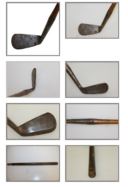 Four Golf Clubs - Invincible Mashie, Spalding Driver, Driver, & Unmarked Iron