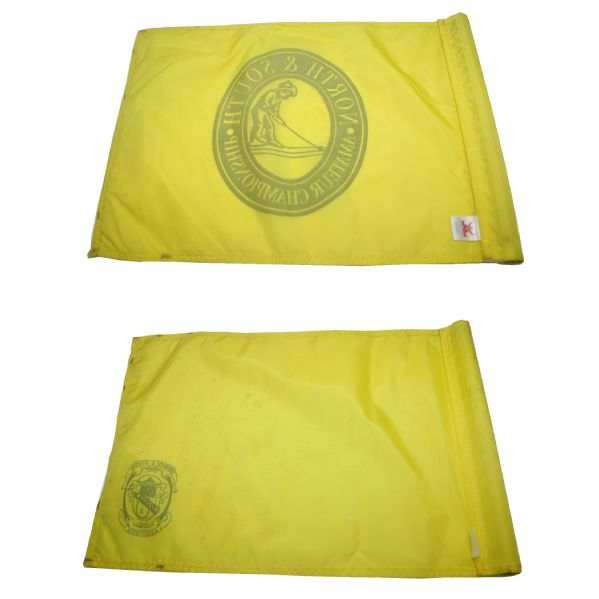 Lot of Two North & South Amateur Championship Flags