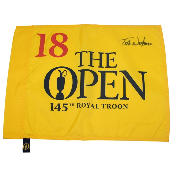 Tom Watson Signed 2016 British Open Flag JSA ALOA