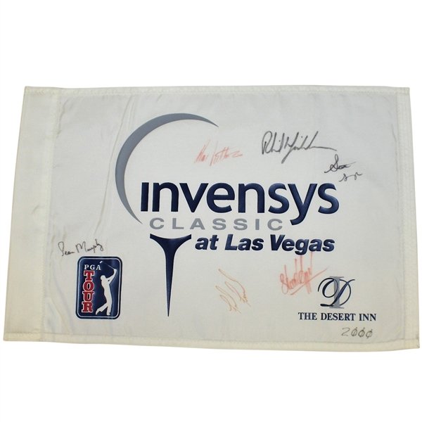 Multi-Signed 2000 Invensys Classic at Las Vegas Flag JSA ALOA