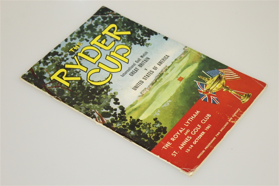 1961 Ryder Cup at Royal Lytham & St. Annes GC Official Program - USA 14 1/2 - 9 1/2