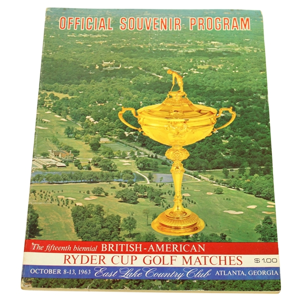 1963 Ryder Cup at East Lake Country Club Official Program - USA 23-9