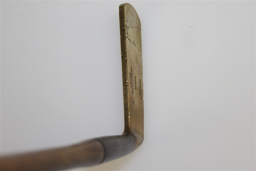 Bussey & Co Putter GGB Patent Steel Socket Long Blade Putter - Sewn Bussey's Grip Handle