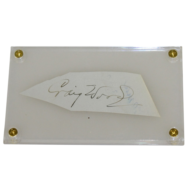Craig Wood(D-1968) Signed Cut-2nd Toughest Masters Champ Autograph FULL JSA #Z90648