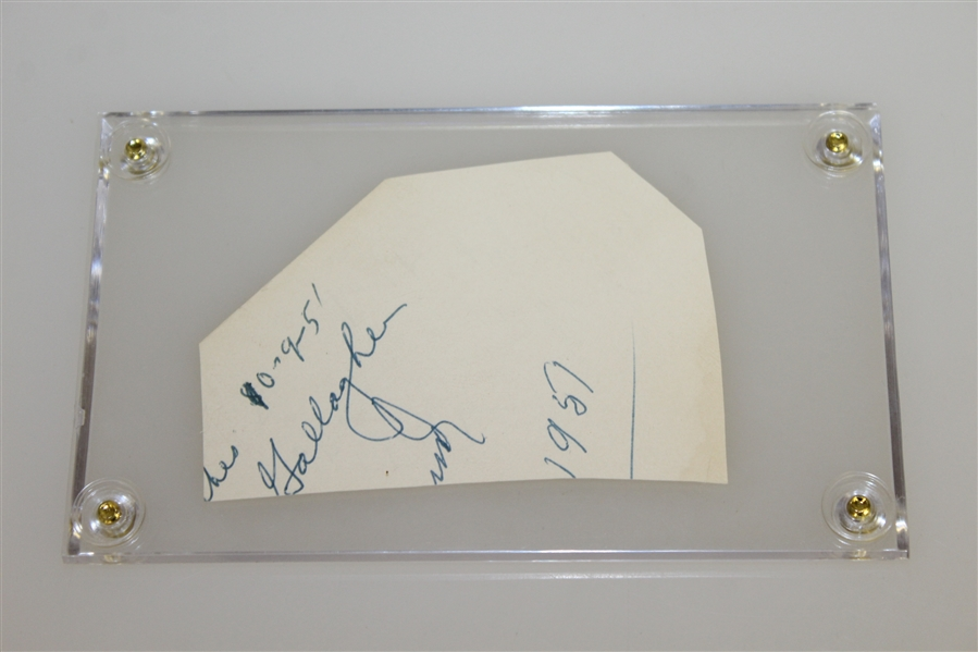 Jimmy Demaret Signed Cut with Personal Note & Year JSA ALOA