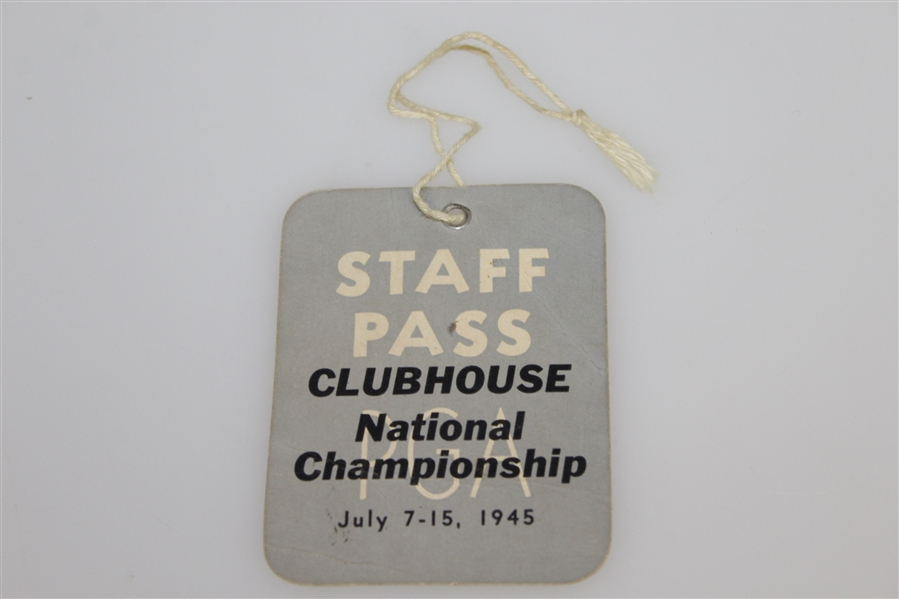 1945 PGA Championship Program & Clubhouse Staff Pass - Part of Nelson's 11 in a Row!