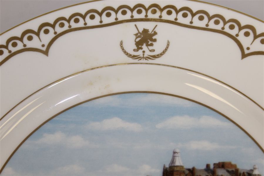 Old Course St. Andrews Ltd Ed #5 Aynsley Plate - Bill Waugh Millennium Collection