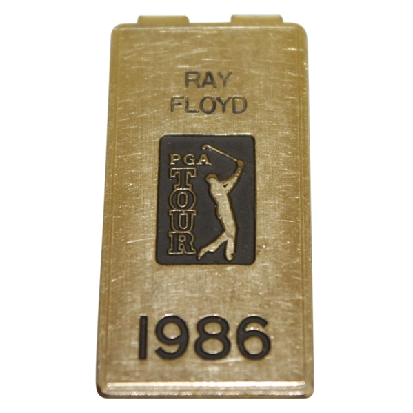 Ray Floyd's Personal 1986 PGA Tour Credential Badge/ Money Clip - U.S. Open Winning Year