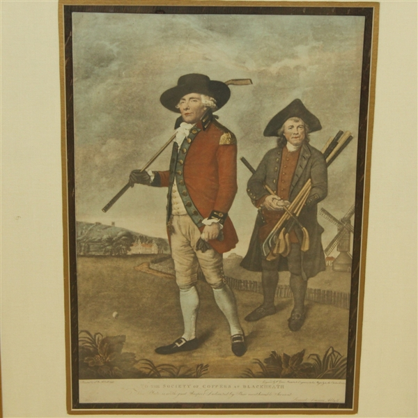 'To The Society of Golfers at Blackheath' Engraving Print by Abbott - Framed