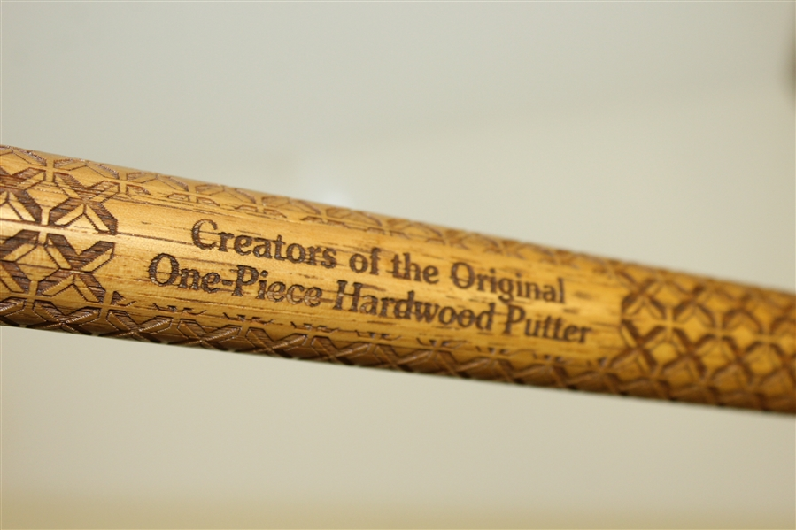 Apple Tree Golf Company Ornate Engraved One Piece Hardwood Putter
