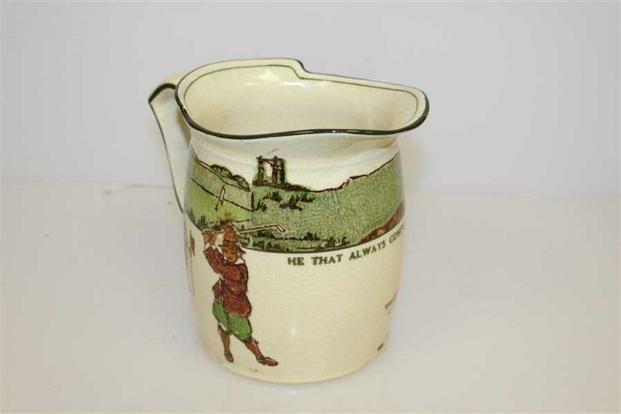 1920's Royal Doulton Golf Themed Milk Jug