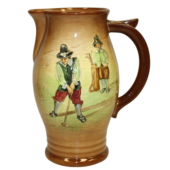 Royal Doulton Kingsware Pitcher- Golfer and Caddy