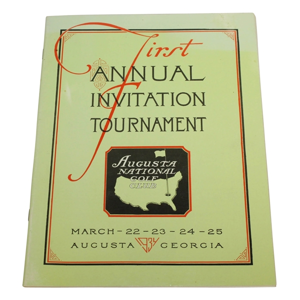 1934 First Annual Invitational Tournament Program - 1998 Reprint