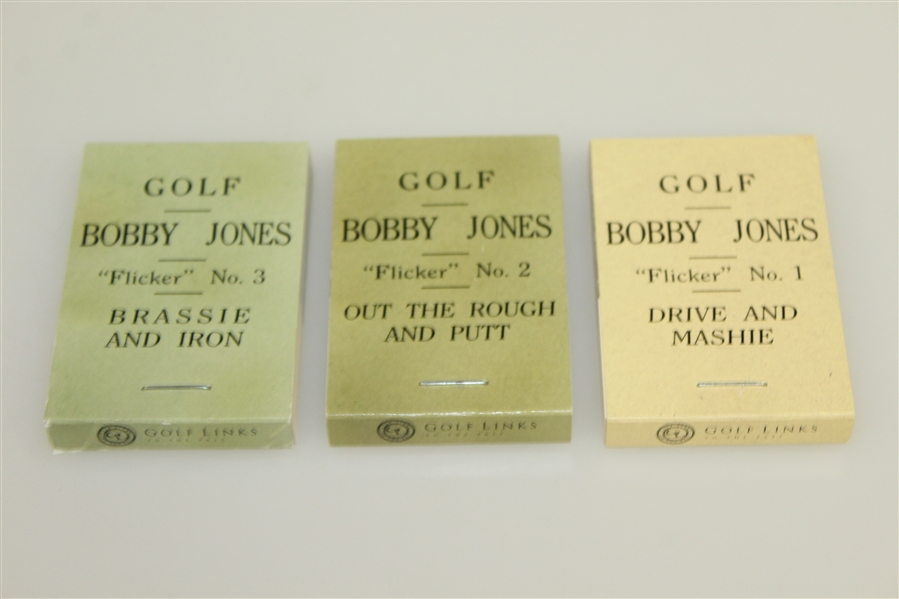 Bobby Jones Golf Ltd Ed Commemorative Flicker Books No. 1,2, & 3