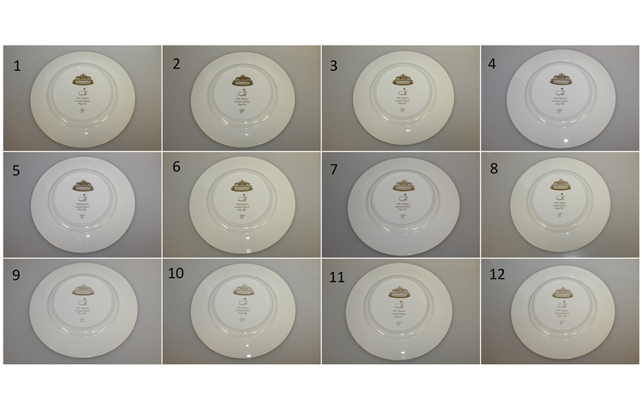 Complete Masters Ltd Ed Member's Lenox Plates #1-12 (1992-1997) with Original Boxes